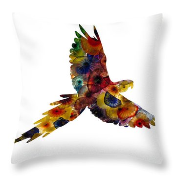 Throw Pillow featuring the photograph Parrot by Michael Colgate
