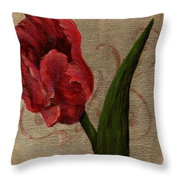 Parrot Tulip I Throw Pillow