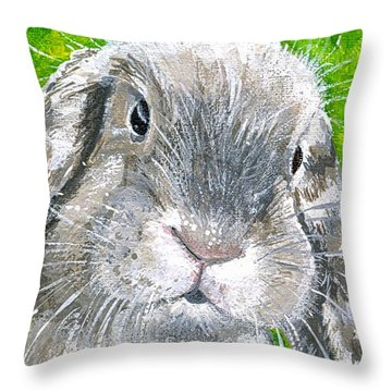 Throw Pillow featuring the painting Parsnip by Mary-Lee Sanders
