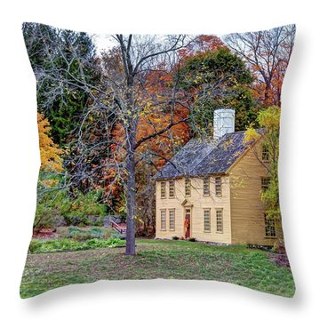 Parson Barnard House In Autumn Throw Pillow