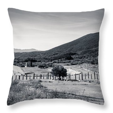 Part Of Ancient Messenei. The Stadium / Greece Throw Pillow
