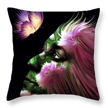 Part Of Me Throw Pillow by Jenn Teel