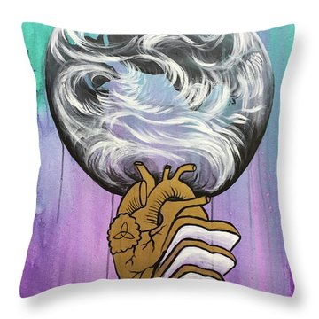 Throw Pillow featuring the painting Partakers Of His Heart by Nathan Rhoads