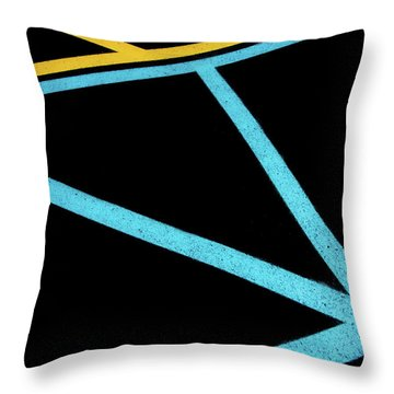 Throw Pillow featuring the photograph Partallels And Triangles In Traffic Lines Scene by Gary Slawsky