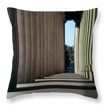 Parthenon Shadow Tunnel Throw Pillow