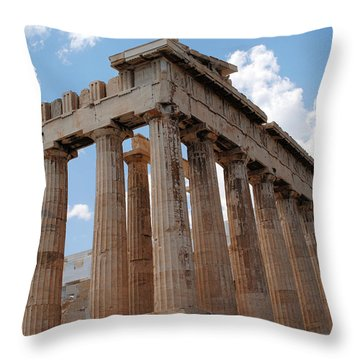 Parthenon Side View Throw Pillow