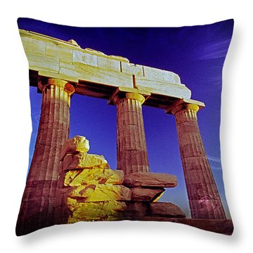 Parthenon Ver 3 Throw Pillow