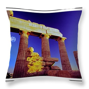 Parthenon Ver 4 Throw Pillow