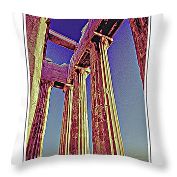 Parthenon Ver 7 Throw Pillow