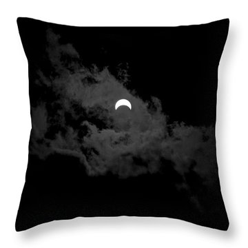 Partial Eclipse Throw Pillow