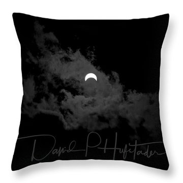 Partial Eclipse, Signed. Throw Pillow
