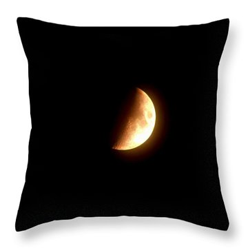 Partial Moon Throw Pillow