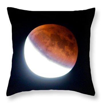 Partial Super Moon Lunar Eclipse Throw Pillow