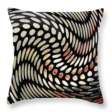 Particles In Curved Space Throw Pillow by Sarah Loft