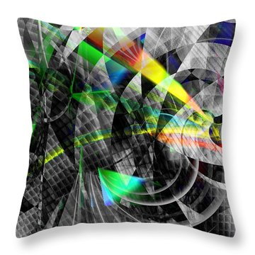 Particles Of Light Dancing Throw Pillow