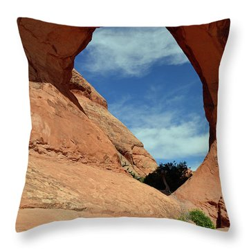 Throw Pillow featuring the photograph Partition Arch In Arches National Park by Bruce Gourley