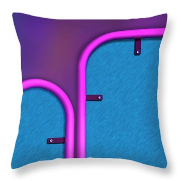 Throw Pillow featuring the photograph Partition by Paul Wear