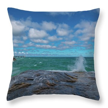 Partly Sunny Throw Pillow