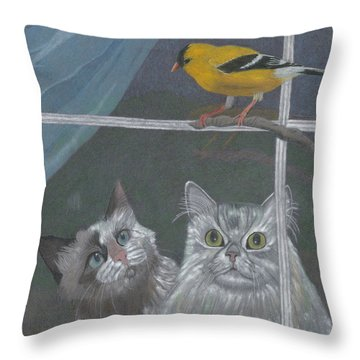 Partners In Crime Throw Pillow by Arlene Crafton