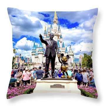 Throw Pillow featuring the photograph Partners Two by Greg Fortier