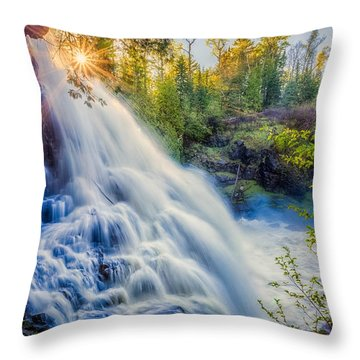 Partridge Falls In Late Afternoon Throw Pillow