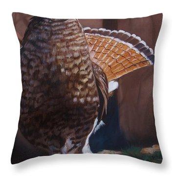 Partridge Throw Pillow by Jean Yves Crispo