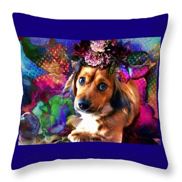 Throw Pillow featuring the digital art Party Animal by Delight Worthyn