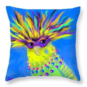 Party Animal Throw Pillow by Jean Pacheco Ravinski