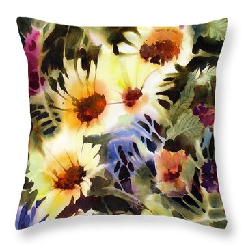 Throw Pillow featuring the painting Party Girls by Rae Andrews