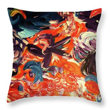 Party In A Parallel Reality Throw Pillow