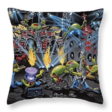 Party Like A Rockstar Throw Pillow
