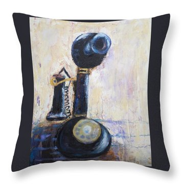 Party Line I Throw Pillow