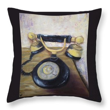 Party Line II Throw Pillow