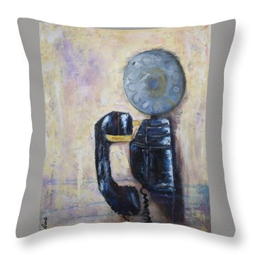 Party Line IIi Throw Pillow