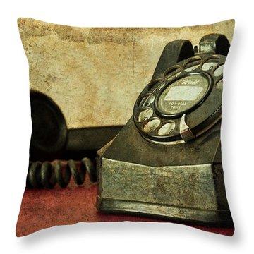 Party Line Throw Pillow by Tom Mc Nemar