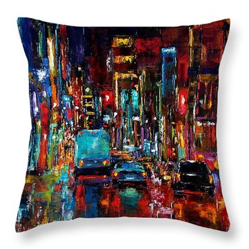 Party Of Lights Throw Pillow by Debra Hurd
