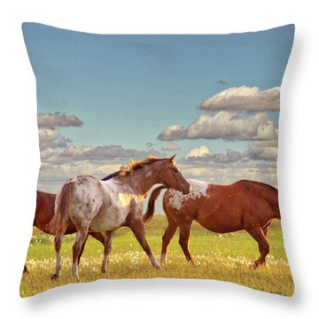 Party Of Three Throw Pillow