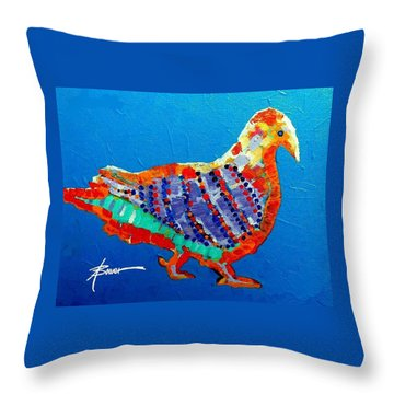 Party Pigeon Throw Pillow
