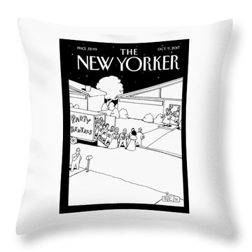 Party Rentals Throw Pillow