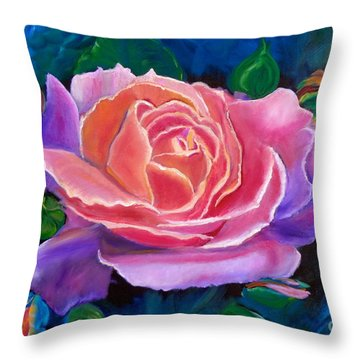 Gala Rose Throw Pillow