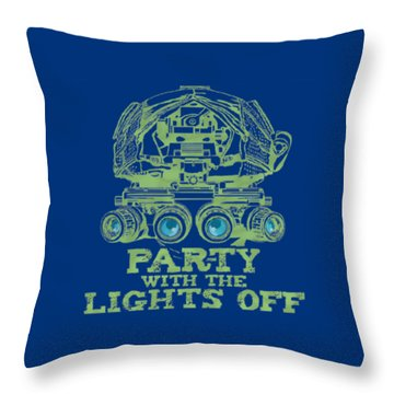 Throw Pillow featuring the mixed media Party With The Lights Off by TortureLord Art