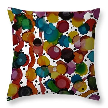 Party Time Throw Pillow by Alika Kumar