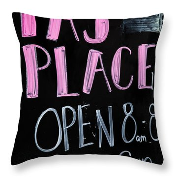 Throw Pillow featuring the photograph Pa's Place by Karol Livote