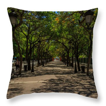 Paseo De La Princesa Throw Pillow