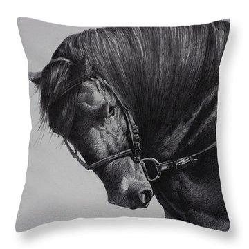 Throw Pillow featuring the drawing Paso Fino by Harvie Brown