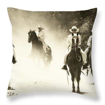 Paso Horse Riders Throw Pillow