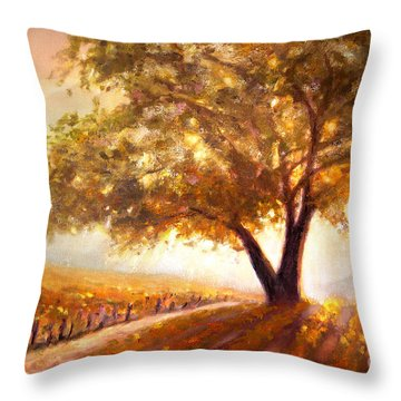 Paso Robles Golden Oak Throw Pillow