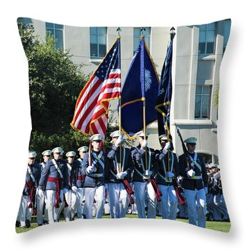 Pass In Review Throw Pillow