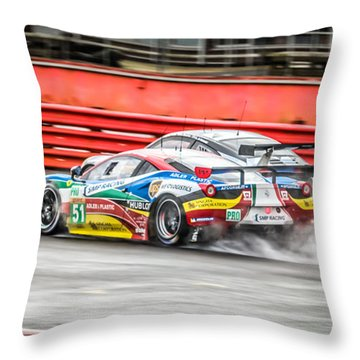 Pass In The Wet Throw Pillow by David Warrington