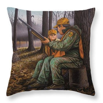 Pass It On - Hunting Throw Pillow